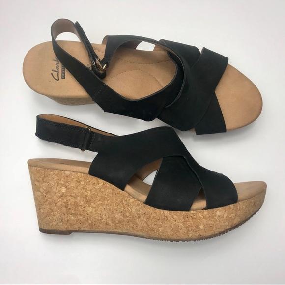 50959b14ab44 Clarks Shoes - Woman s Annadel Fareda Wedge Sandal Size 11
